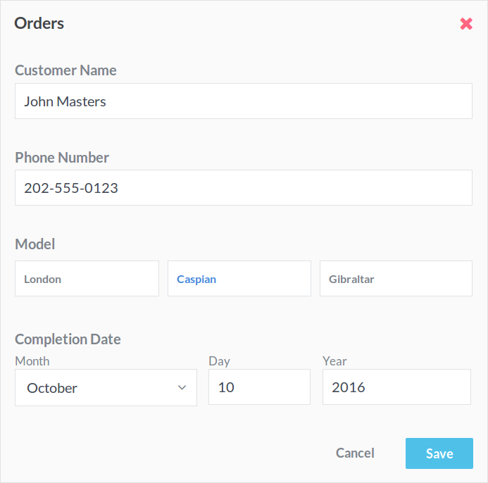 Create forms customized for your organization.